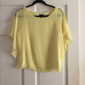 Ann Taylor Yellow Blouse with Tank Size 12